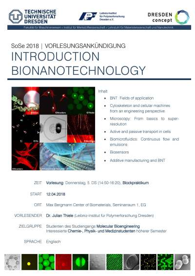 180326_Ankundigung_Thiele_Introduction Bionanotechnology